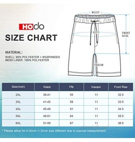 HODOSPORTS Mens Big and Tall Swim Trunks Quick Dry with Mesh Lining Black/Navy