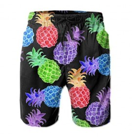 NFGSE Men's Swim Trunks Waterproof Quick Dry Becch Shorts with Pockets Casual Drawstring Short Pants