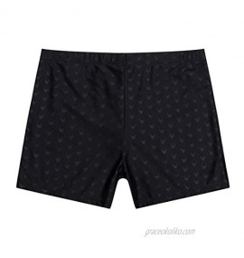 AceAcr Men's Printed Swimming Boxer Shorts with Removeable Pad Swimwear