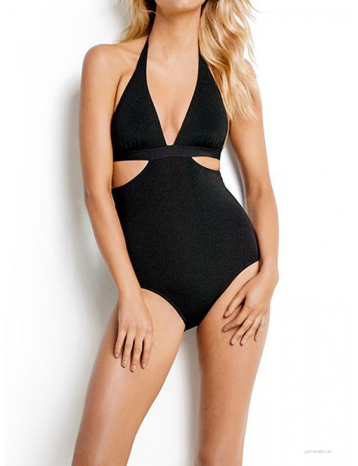 women One Piece Swimsuits Black Backless summer sexy Bathing Suits