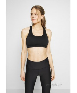 Cotton On Body WORKOUT CUT OUT CROP Light support sports bra black