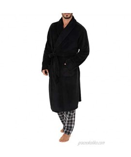 Chaps mens Comfort Poly Suede Robe